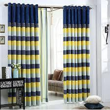 rideau de chambre désinvolte poly coton é bleu marine jaune chambre à coucher
