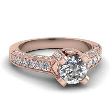 pink gold engagement rings glittering pink gold engagement ring styles