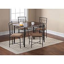 5 Piece Dining Room Sets by Amazon Com Mainstays 5 Piece Wood And Metal Dining Set Espresso