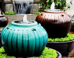 chic ceramic outdoor water fountains water garden fountain using