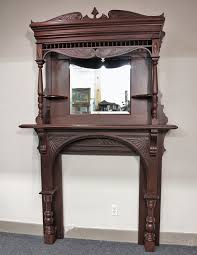 Gas Mantle Fireplace by Victorian Fireplace Mantel With Mirror Victorian Eastlake Mantle