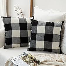 Factory Direct Home Decor Cheap Pillow Cushion Cover Buy by Amazon Com Black White Checkers Plaids Throw Pillow Case Sham
