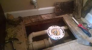 repair how to support the subfloor around a toilet between i