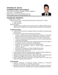 cpa resume sle cpa resume philippines cover letter format on how to write