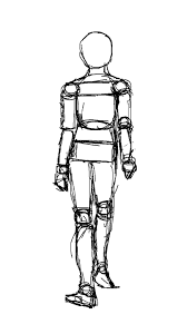 human walk cycle sketch front by victoranox on deviantart