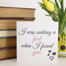 Seeking Card I Was Seeking A Fool Shakespeare Greeting Card The