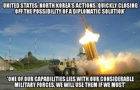North Korea Memes - u s will use force against north korea if we must memenews