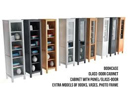 Glass Bookcase With Doors Model Of Ikea Bookcase Glass Door Cabinet