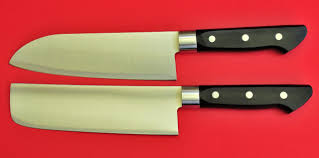 japanese kitchen chef knives set nakiri santoku 29cm stainless