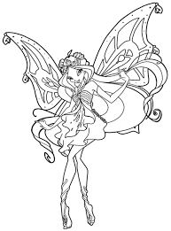 free winx club enchantix colouring pages coloring pages kids