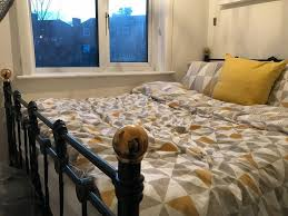 Brass Double Bed Frame Black And Brass Double Bed Frame In Good Condition Swaythling