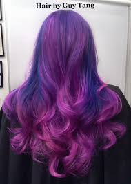 quad tone ombre fusion of deep royal purple and magenta with