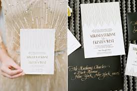 wordings black and gold art deco wedding invitations in