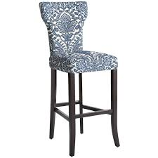 blue bar stools kitchen furniture carmilla blue damask counter bar stool pier 1 imports