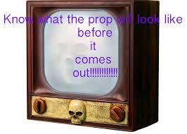 halloween horror props 1 ft terror tv halloween haunted tv fake the sneak peek 2016