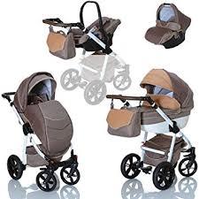 siege auto pliable lcp poussette combinee 3en1 lucato eco cuir pour bebe et enfant