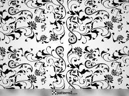 rococo style ornamental patterns vector pattern design by