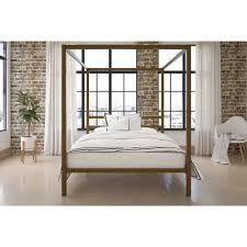 dorel modern canopy queen metal bed multiple colors walmart com