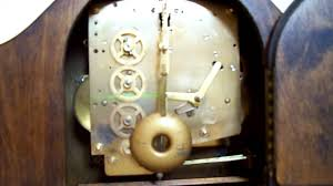 Mantle Clock Repair British Made Perivale Westminster Chime Mantle Clock Back Youtube