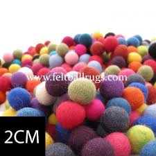 bulk handmade 2cm felt balls felt rugs