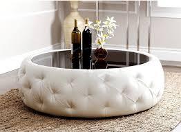 furniture extraordinary pure white cocktail ottoman home design