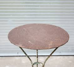 Wrought Iron Vintage Patio Furniture by Vintage Wrought Iron Round Green Patio Table Omero Home