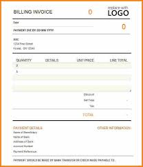 Billing Invoice Template Excel Billing Invoices Monthly Billing Invoice Statement Template