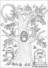 crafty inspiration halloween coloring pages hard color