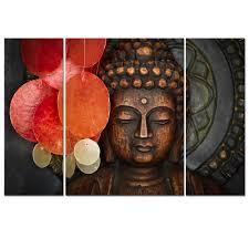 buddha canvas wall art wood buddha statue canvas prints keep inner