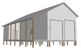 pole barn the g463 36 x 48 x 16 rv pole barn free house plan reviews
