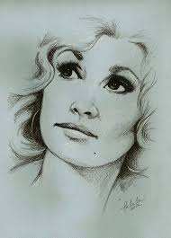 dolly parton portrait sketch 8x10 print by talulachristian on etsy