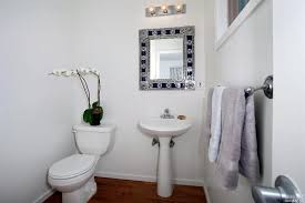 traditional powder room with powder room pedestal sink zillow