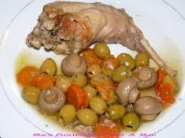 cuisiner lapin entier lapin aux chignons et olives mes gourmandises à moi