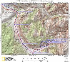 Capitol Reef National Park Map Cassidy Arch Usa Hike Usa Wanderung Mit Gps Daten