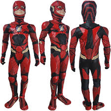 boys the flash barry allen cosplay halloween costume full set dc