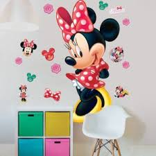 chambre enfant minnie comforium kit autocollants amovibles disney minnie mouse pour