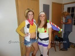 Buzz Lightyear Halloween Costume Coolest Women U0027s Buzz Lightyear Woody Couple Costume