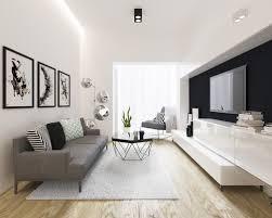modern livingroom design exle of a small minimalist open concept living room design in