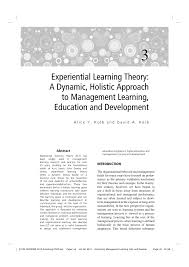 Dynamic Learning Maps Experiential Learning Theory A Dynamic Holistic Approach To