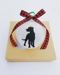 rudolph the nosed great dane tree ornament