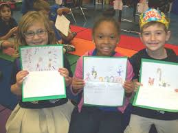 st charles parish news students write christmas cards to