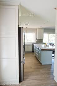 Small Galley Kitchen Design by Concrete Brick Accent Walls Polished Concrete Floors French