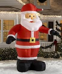 2016 cheap outdoor inflatables lighted santa claus wholesale