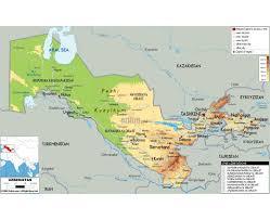 Kyrgyzstan Map Maps Of Uzbekistan Detailed Map Of Uzbekistan In English