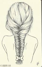 plait at back of head hairstyle of head hair clipart braid