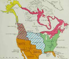Louisiana Purchase Map by Map Of North America 1670 1867