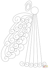 abstract swirly angel coloring page free printable coloring pages