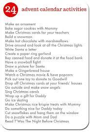 25 unique advent calendar activities ideas on advent