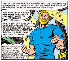 Blind Obedience To Authority Gruenwald U0027s Captain America A Hero You Can U0027t Believe In
