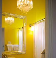 bathroom yellow bathroom tile then gel stain the vanity